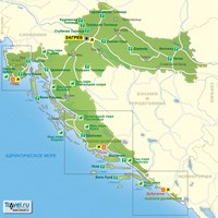 Карта курортов Хорватии