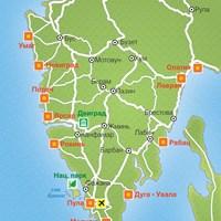 Карта курортов Истрии