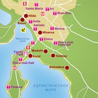Карта курорта Медулин