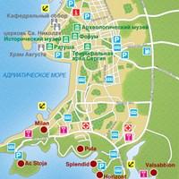 Карта курорта Пула