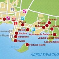 Карта курорта Поречь