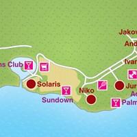 Карта курорта Шибеник