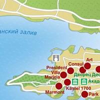 Карта курорта Сплит