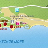 Карта курорта Брела