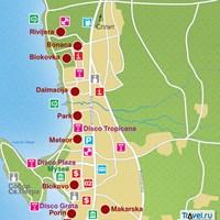 Карта курорта Макарска