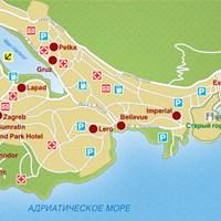 Карта курорта Дубровник