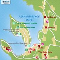 Карта курорта Цавтат