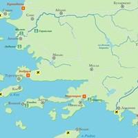 Карта курортов Эгейского моря