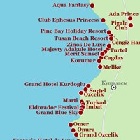 Карта курорта Кушадасы