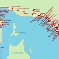 Карта курорта Мармарис
