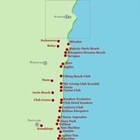 Карта курорта Аланья