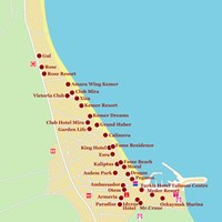 Карта курорта Кемер (врезка)