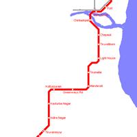 Схема метро в Ченнаи