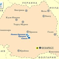 Карта горнолыжных курортов Румынии