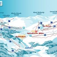 Схема трасс в Шпиндлерув-Млине
