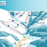 Схема трасс в Пеце-под-Снежкоу