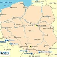 Карта горнолыжных курортов Польши