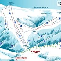 Схема трасс в Карпаче