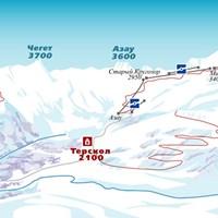 Схема трасс в Приэльбрусье