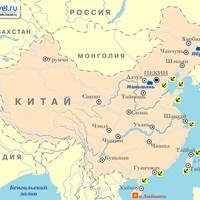 Карта горнолыжных курортов Китая