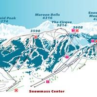 Схема трасс в Аспен-Сноумасс