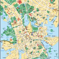 Карта бесплатных парковок в Хельсинки