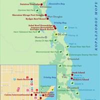 Карта Большого Барьерного Рифа