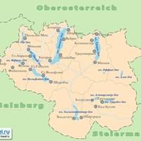 Карта Зальцкаммергута