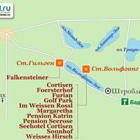 Карта Вольфганг-Зее