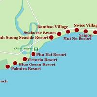 Карта курорта Фантхьет