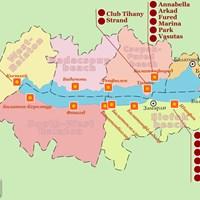 Карта курортов на озере Балатон