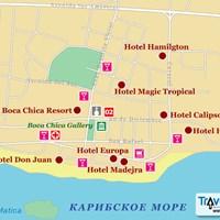Карта курорта Бока-Чика