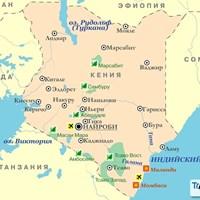 Карта Кении