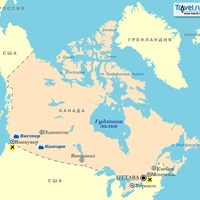 Карта Канады