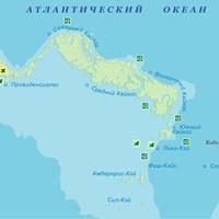 Карта островов Теркс и Кайкос