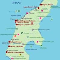 Карта острова Сайпан