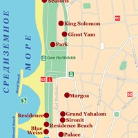 Карта курортов Нетании