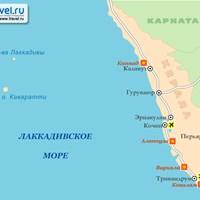 Карта штата Керала