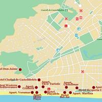 Карта курорта Кастель-де-Фельс