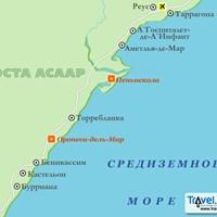 Карта курорта Коста-Асаар