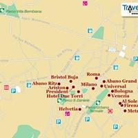 Карта курорта Абано-Терме