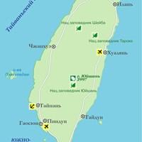 Карта Тайваня