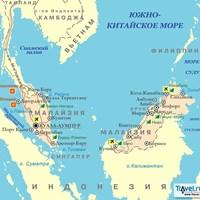 Карта курортов Малайзии