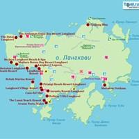 Карта острова Ланкави