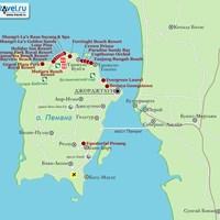 Карта острова Пенанг