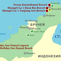 Карта курортов Борнео