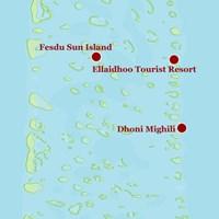 Карта атолла Ари