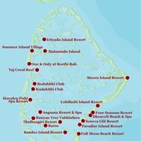 Карта атолла Северный Мале