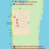 Карта острова Косумель