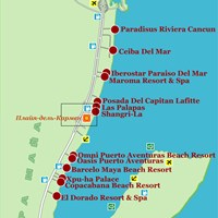 Карта курортов Карибского побережья